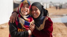 Zaatari,Village,,Amman,/,Jordon,-,January,14,2015:,Cheerful